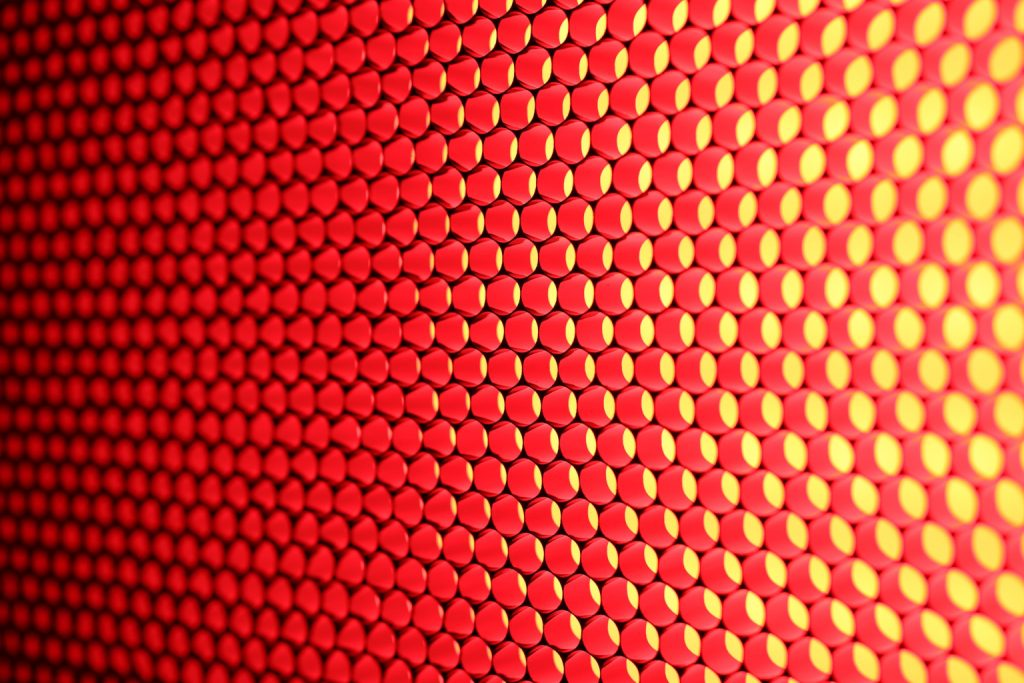 Red and yellow abstract image