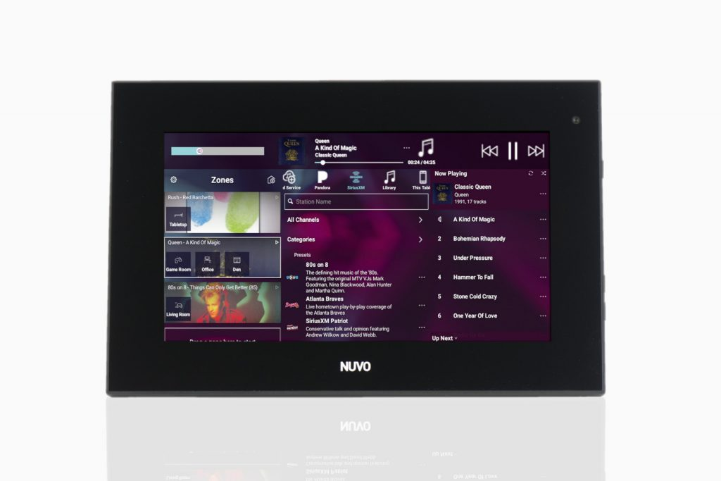 Nuvo whole home audio in-wall display